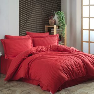 купить Постельное белье Hobby Home Exclusive Sateen Diamond Cizgili красный Красный фото