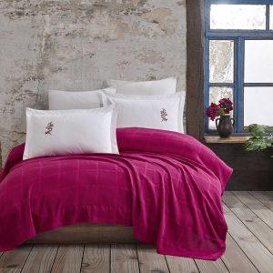 купить Постельное белье с Пике Hobby Home Rainbow Pike Fusya Розовый фото