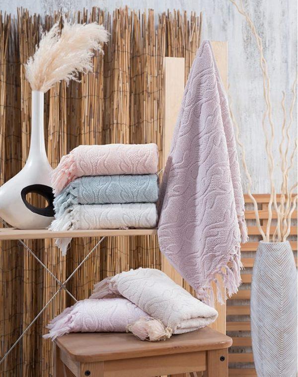 купить Набор махровых полотенец Sikel жаккард Marina 70x140 6 шт  фото