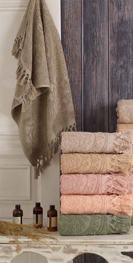купить Набор махровых полотенец Sikel жаккард Hitit 70x140 6 шт  фото
