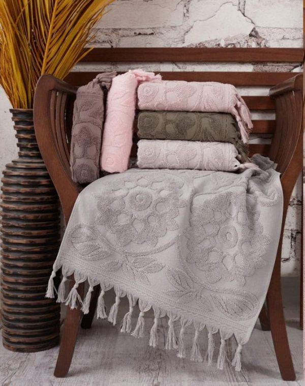 купить Набор махровых полотенец Sikel жаккард Barberyy 70x140 6 шт  фото