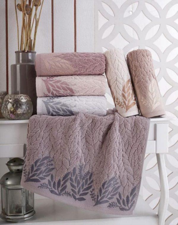 купить Набор махровых полотенец Sikel жаккард Melenema 50x90 6 шт  фото
