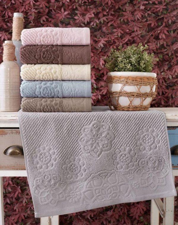 купить Набор махровых полотенец Sikel жаккард Albedo 70x140 6 шт  фото