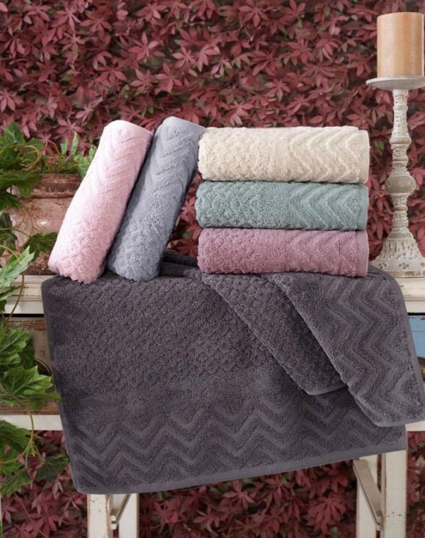 купить Набор махровых полотенец Sikel жаккард Anemon 70x140 6 шт  фото