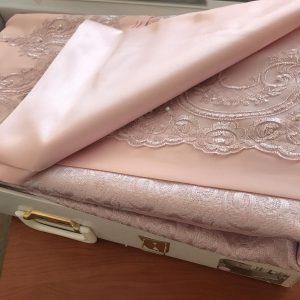 купить Покрывало с наволочками Kubra Class полиэстер Marie розовый Розовый фото