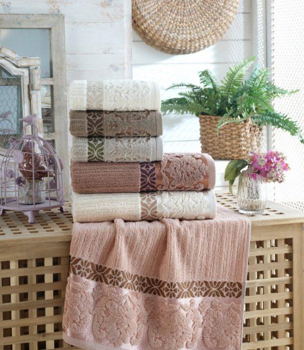 купить Набор махровых полотенец Sikel жаккард Guzide 30x50 6 шт  фото