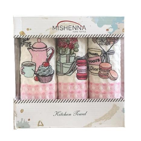 купить Набор кухонных полотенец Nilteks Qalite Sweets 35x50 3 шт  фото