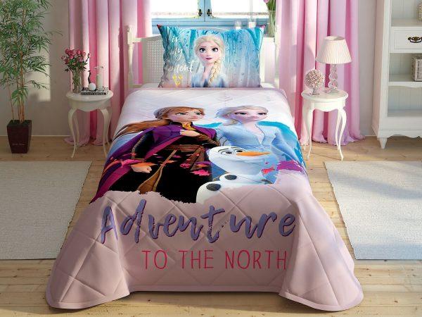 купить Покрывало с наволочкой Tac Disney Frozen 2 160x220+50x70 Розовый фото