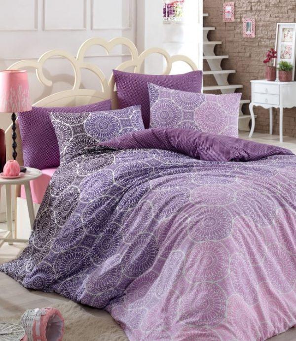 купить Постельное белье Zugo Home ранфорс Colin V1 mor Фиолетовый фото