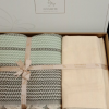 купить Постельное белье с пике Favorite лен Hohgkong haki Зеленый фото 112458
