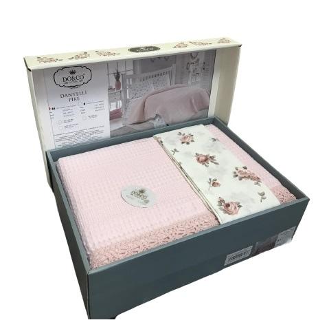 купить Летнее постельное белье Do & Co Dantelli розовый Розовый фото