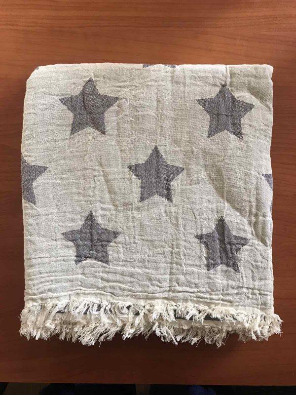 купить Пляжное полотенце Gold Soft Life pestemal Star 100x180 Серый фото
