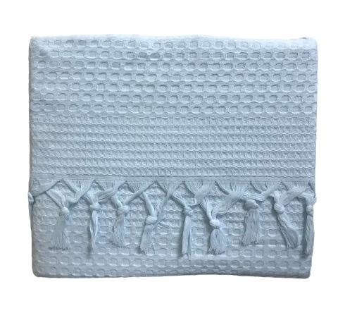 купить Вафельное покрывало-простынь Пике La Rita вафельная 220x240 ментоловый Ментоловый фото