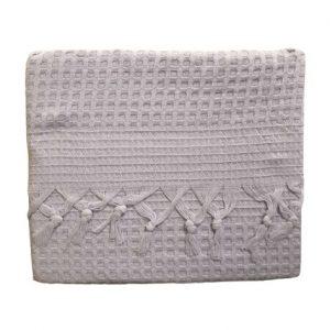купить Вафельное покрывало-простынь Пике La Rita вафельная 220x240 лиловый Лиловый фото