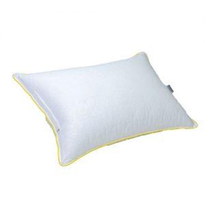 купить Подушка Славянский пух Classic желтый кант 50x70 Белый фото