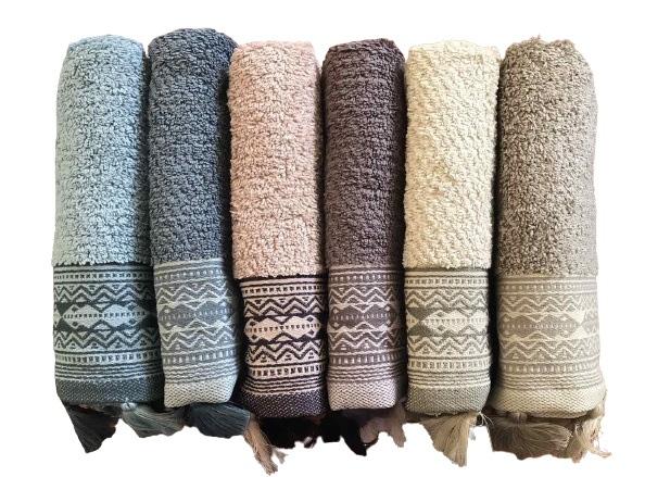 купить Набор махровых полотенец Sikel Cotton Ponpon 70x140 6 шт  фото