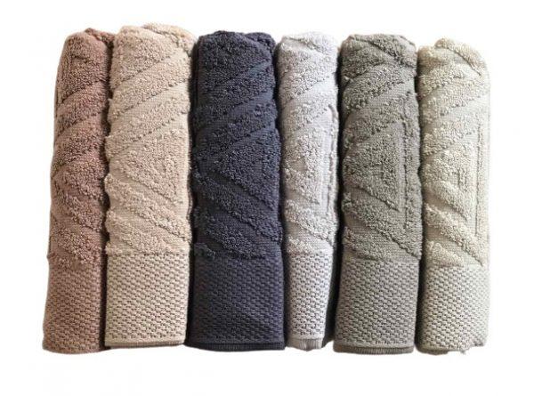 купить Набор махровых полотенец Sikel жаккард Galaksi 50x90 6 шт  фото