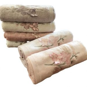 купить Набор махровых полотенец Sikel 3D Bamboo Zambak 70x140 6 шт  фото
