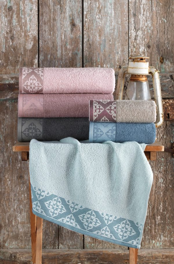 купить Набор махровых полотенец Purry Cotton Defne 70x140 6 шт  фото