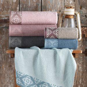 купить Набор махровых полотенец Purry Cotton Defne 50x90 6 шт  фото