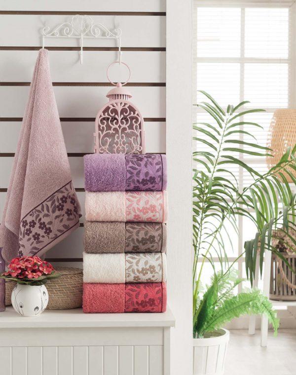 купить Набор махровых полотенец Purry Cotton Sarmasik 70x140 6 шт  фото