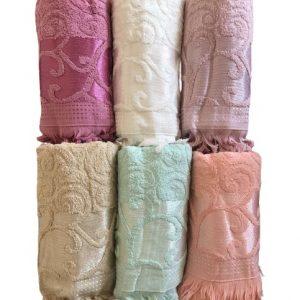 купить Набор махровых полотенец Gulcan жаккард 50x90 6 шт  фото