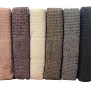 купить Набор махровых полотенец Mercan Cotton жаккард Jumbo 50x90 6 шт  фото