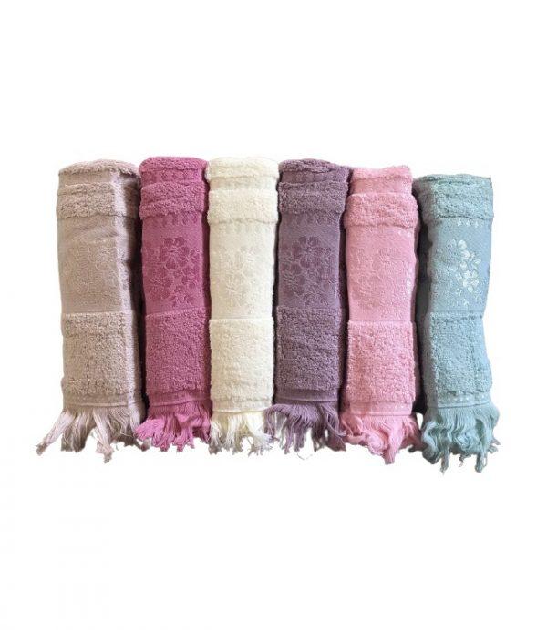 купить Набор махровых полотенец Gulcan Cotton Daisy 50x90 6 шт  фото
