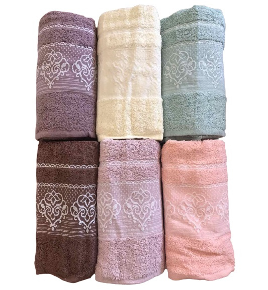 купить Набор махровых полотенец Gulcan Cotton Petra 50x90 6 шт  фото