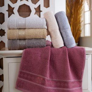 купить Набор махровых полотенец Sikel Bamboo Pirlanta 30x50 6 шт  фото
