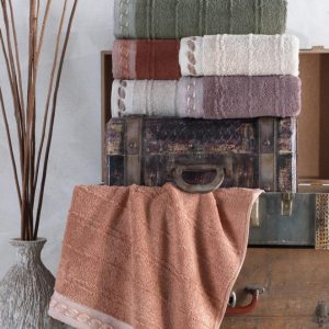 купить Набор махровых полотенец Sikel жаккард Saika 50x90 6 шт  фото