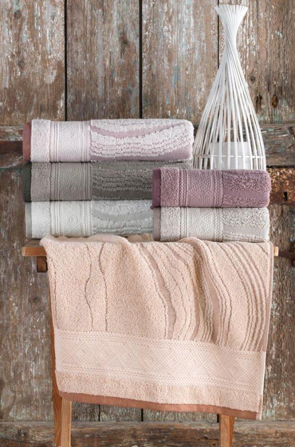 купить Набор махровых полотенец Sikel жаккард Laminant 70x140 6 шт  фото
