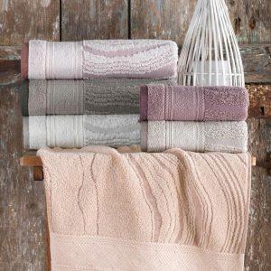 купить Набор махровых полотенец Sikel жаккард Laminant 50x90 6 шт  фото