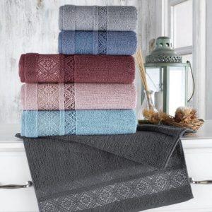 купить Набор махровых полотенец Sikel жаккард Roma 50x90 6 шт  фото