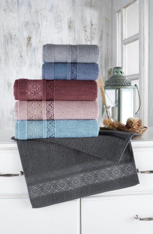 купить Набор махровых полотенец Sikel жаккард Roma 70x140 6 шт  фото