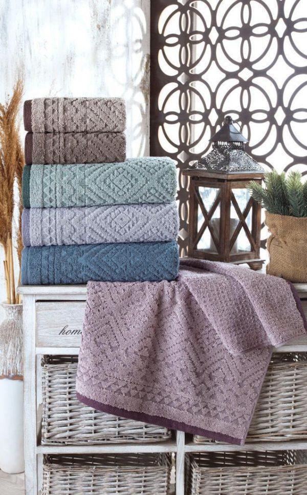 купить Набор махровых полотенец Sikel жаккард Destina 50x90 6 шт  фото