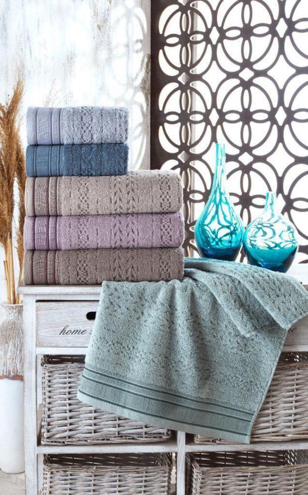 купить Набор махровых полотенец Sikel жаккард Melina 70x140 6 шт  фото