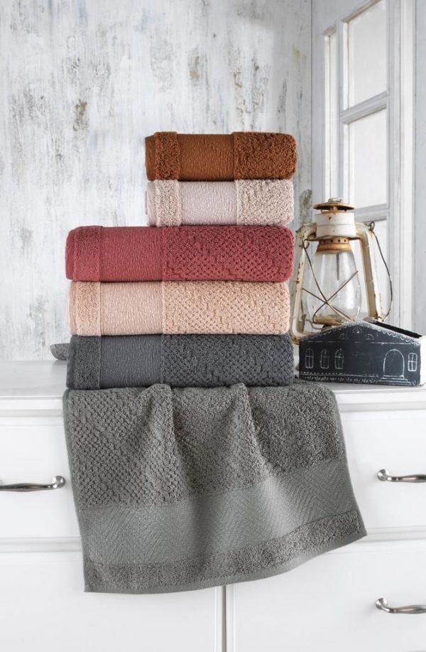 купить Набор махровых полотенец Sikel жаккард Bruska 70x140 6 шт  фото