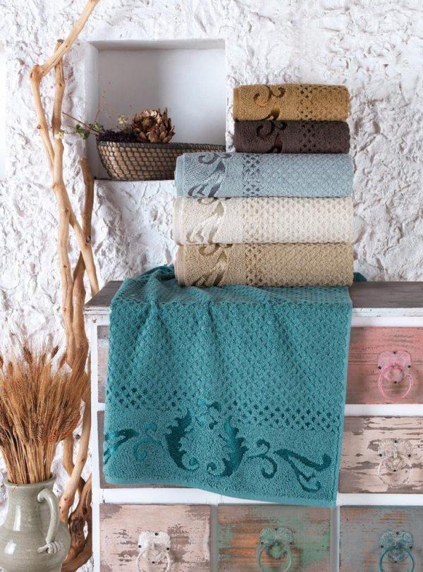 купить Набор махровых полотенец Sikel жаккард Eysan 50x90 6 шт  фото