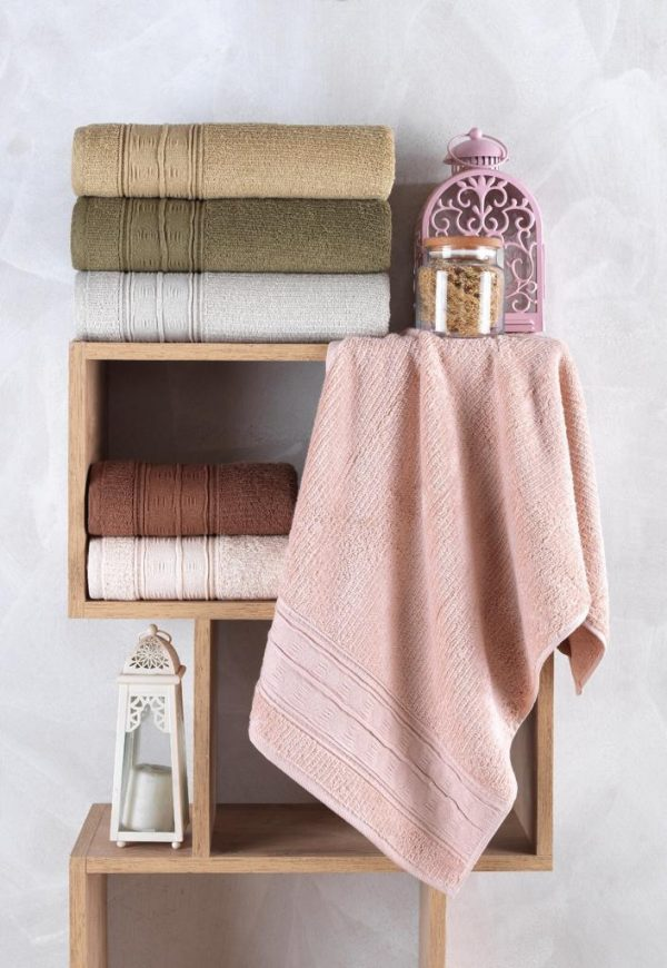 купить Набор махровых полотенец Sikel жаккард Topkapi 30x50 6 шт  фото