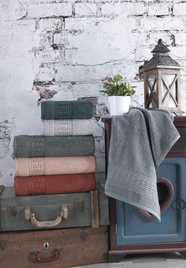 купить Набор махровых полотенец Sikel жаккард Imperial 70x140 6 шт  фото
