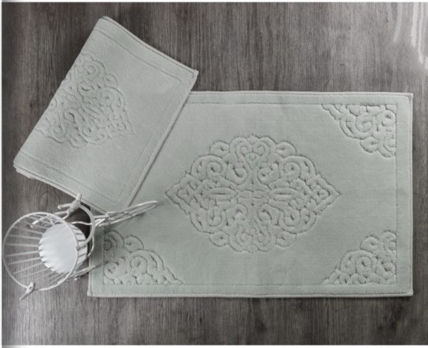 купить Набор ковриков Zugo Home Ala SuYesili 50x60+60x100 Зеленый фото