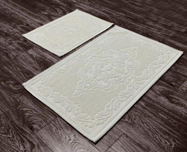 купить Набор ковриков Zugo Home Osmanli Fidisi 50x60+60x100 Кремовый фото