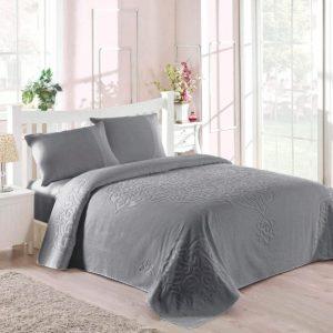 купить Покрывало-простынь махровая TAC Dama 200x220 серый Серый фото