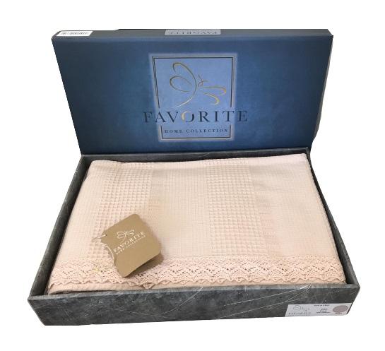 купить Вафельное покрывало-простынь Пике Favorite Gold 200x240 пудровый Розовый фото