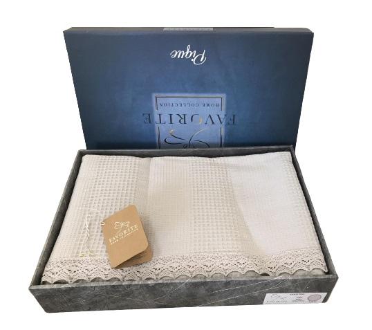 купить Вафельное покрывало-простынь Пике Favorite Gold 200x240 светло серый Бежевый фото