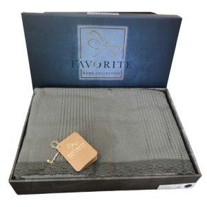 купить Вафельное покрывало-простынь Пике Favorite Gold 200x240 зеленый Зеленый Серый фото
