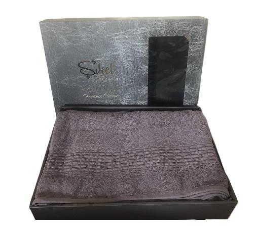 купить Махровая простынь-покрывало Пике Sikel cotton Imperial 200x220 фиолетовый Фиолетовый фото
