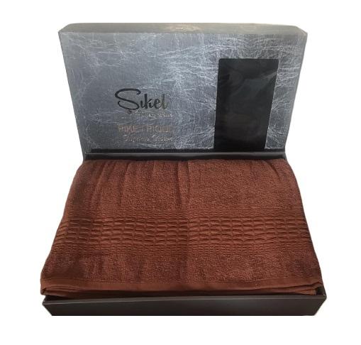 купить Махровая простынь-покрывало Пике Sikel cotton Imperial 200x220 кирпичный Коричневый фото