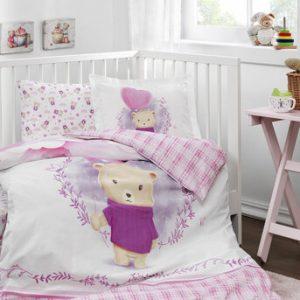 купить Детское постельное белье Ozdilek ранфорс Purple Lover Розовый фото
